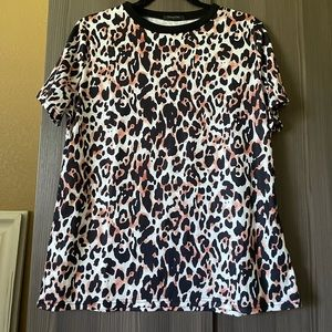 Blooming Jelly Leopard Print Shirt